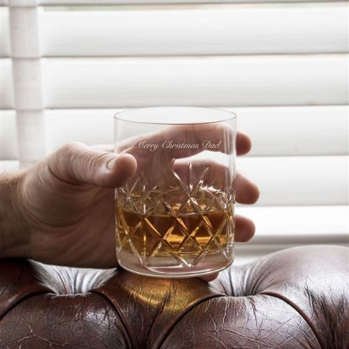 Engraved Crystal Cut Whisky Glass Set